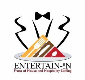 Part time: Event Waiters/Waitresses & Front of House Staff