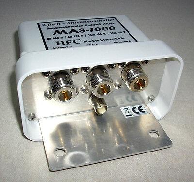 2-fach Antennenschalter MAS-1000 (0-1300 MHz) N-Norm