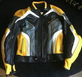 Leather motor bike jacket by REV'IT