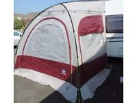 Porch Awning, Suncamp scenic plus in light grey and burgandy