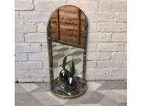 Vintage Retro Wall Mirror With Shelf #502