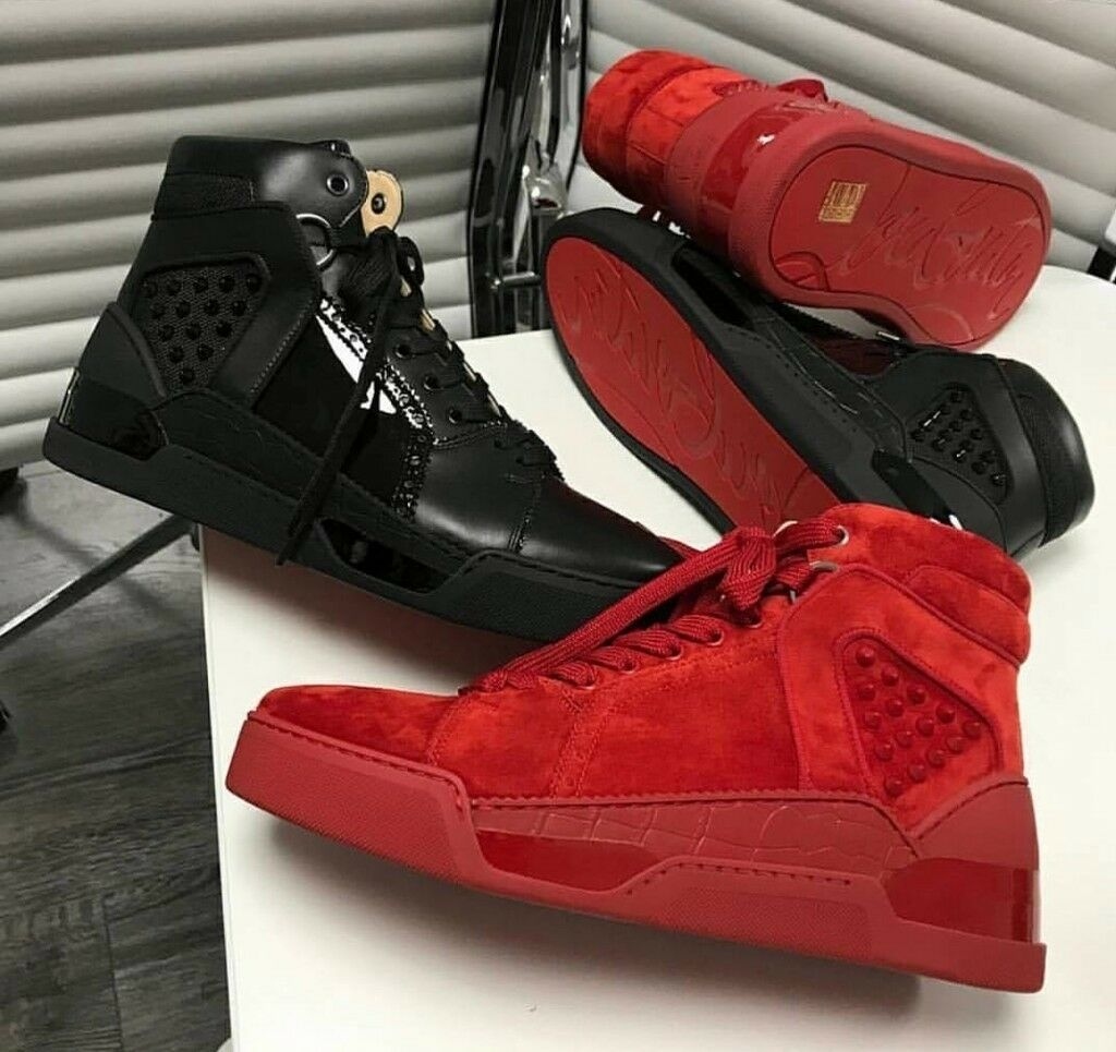 watch 698b8 6f42b Christian Louboutin- Men's Sneakers (Black Leather & Red Suede) | in  Westminster, London | Gumtree