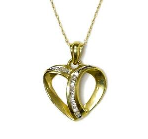 DIAMOND HEART PENDANTS JUST IN TIME FOR VALENTINE'S DAY! (MATCHING GOLD CHAIN INCLUDED)