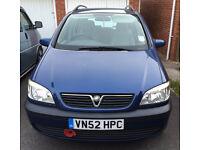 2003 Vauxhall Zafira, 1.8 Petrol, MPV, 7 Seater