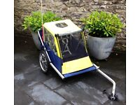 Double seat bike trailer. Used but in good condition.