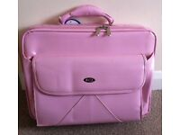 """Pink Laptop Bag (BCL) with front, rear & inside pockets for 15.1-15.4"""" laptop."""