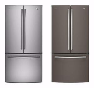 2 choix de Réfrigérateurs 33'', Stainless/Ardoise, Portes françaises, GE Profile