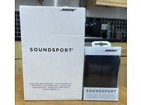 Bose SoundSport Wireless Headphones + Charging Case - Black