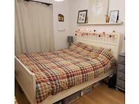 Ikea Hemnes King size bed & Sultan mattress