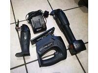 Evolution Pure Li-ion 18V Jigsaw, Grinder And Multi tool kit set