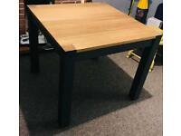 Solid oak 4 seater dining room table