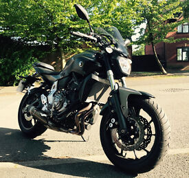 YAMAHA MT-07 (2015), BLACK/GREY IN PERFECT CONDITION, ONLY 4,561 MILES