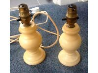 MID CENTURY VINTAGE PAIR OF TABLE LAMP BASES heavy rewired