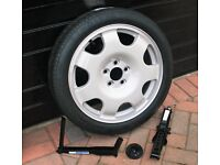 2015 onwards UK Ford Mustang 2.3 ecoboost alloy space saver wheel, jack and brace kit