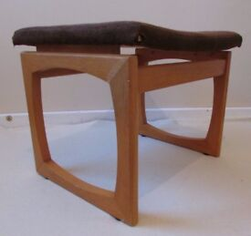 Genuine G plan EG wooden footrest curve comfy footstool unusual and rare FREE DELIVERY WITHIN LE3