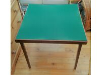 "Vintage Folding Card / Games Table Full Size 30"" Square Sturdy Metal Catches for sale  Whickham, Tyne and Wear"