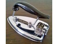 Vintage 1940s/50s travel iron in original case