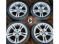 "18"" Genuine BMW M Sport alloys 3 series excellent cond excellent premium tyres."