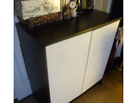 IKEA Dark Brown and Cream Cabinet Home or Office As New Condition