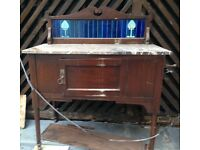 Edwardian Washstand - beautiful marble top - part of a 3 piece set