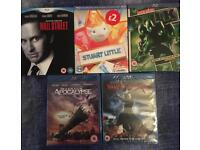 Collection of 5 sealed Blu-ray Disc movies films