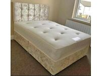 🌀Brand New Crushed Velvet Beds and Mattresses. Available separately or as a set. FREE DELIVERY🌀