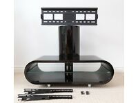 TV Stand (Black Gloss) with Integrated Screen Mount - Techlink Ovid OV95TVB