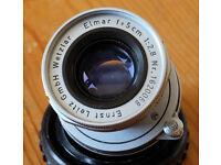 Leitz Leica 50mm f/2.8 Elmar in 39mm screw fit