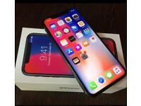 APPLE IPHONE X 64GB BLACK EE WITH BOX 2 MONTH **READ DESCRIPTION**