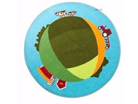 Farm tractor cow area RUG from IKEA of Sweden.