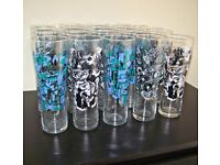 20 'Grolch' futuristic art design pint glasses.NEW.Great for a party!