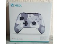 Microsoft Xbox One Wireless Controller (Winter Special Forces) New + Boxed