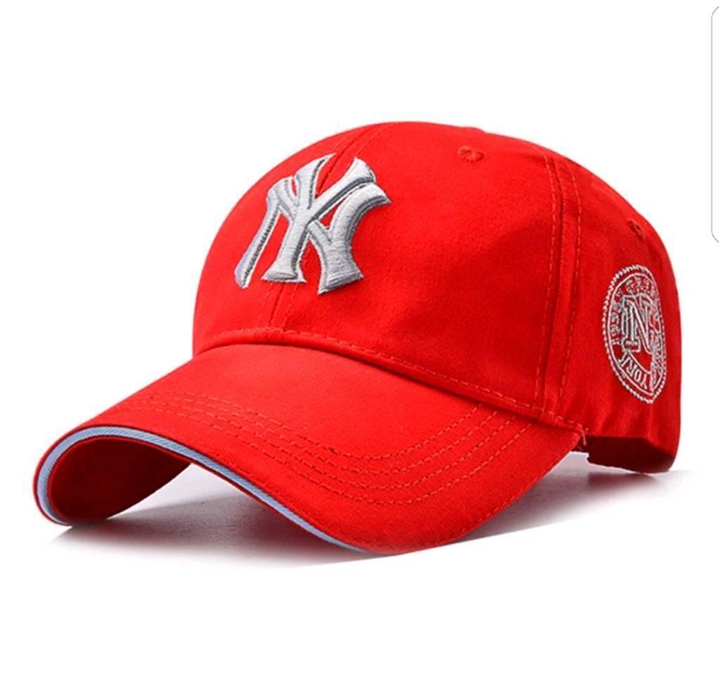 ... f4283 6f541 NY red baseball cap brand new hat for men s and women s  designer ... c3d28902e