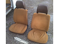 VW T25 Type 25 front seats with headrests