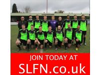 Find a local football team in London, teams looking for players in London, join football team. ah21g