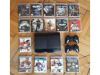 PS3 500gb Super Slim Console Bundle | 15 games | 2 Controllers