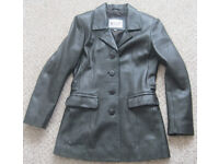 Leather coat and jacket, size 10. £15-£20 each
