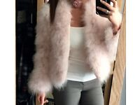 FEATHER JACKET - DUSTY PINK SIZE S/M