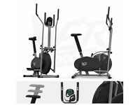 We R Sports 2 in 1 Elliptical Cross Trainer and Exercise Bike Fitness Cardio Workout with Seat