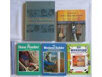 5 BOOKS vintage / retro home improvement D.I.Y decorating Home Plumber Weekend Builder