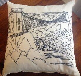 Bristol Clifton Suspension Bridge Cotton Cushion