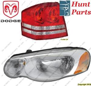 All Dodge Head Lamp Tail Headlight Headlamp light Fog Mirror Phare Avant Arrière Antibrouillard Lumière Miroir