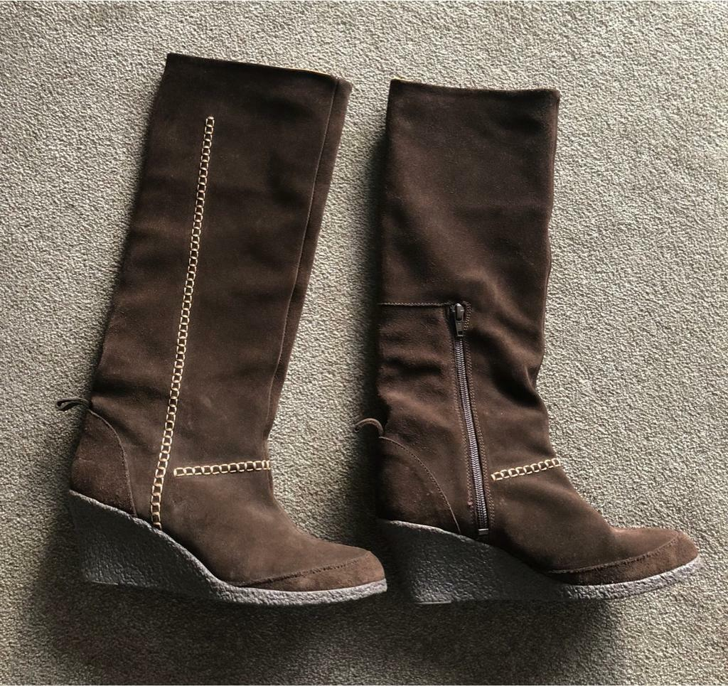 8abd6f2c0ed Ladies Duo Slim calf Brown suede Boots size 5 - worn a couple of times. |  in Ipswich, Suffolk | Gumtree