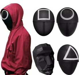 Squid Game Mask Triangle, circle and square for Halloween or Cosplay