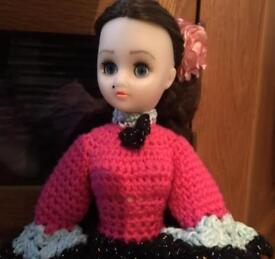 Doll with Knitted Dress