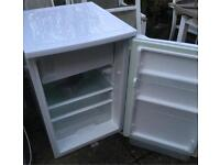 White under counter fridge with freezer compartment