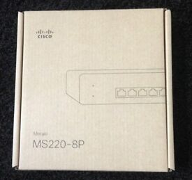 Cisco Meraki MS220-8P Cloud Managed 8 Port Switch