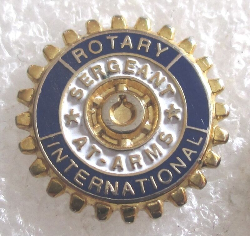 Vintage Rotary International Sergeant-At-Arms Lapel Pin