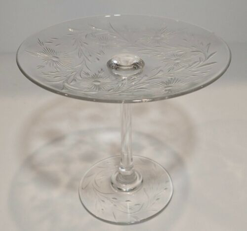 Antique Lead Crystal  Comport Compote Footed Dish              KB0497