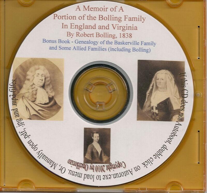 Bolling Family In England and Virginia - Genealogy + Bonus Book